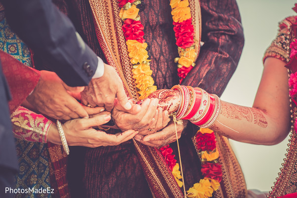 Ceremony in Jersey City, NJ Indian Wedding by PhotosMadeEz