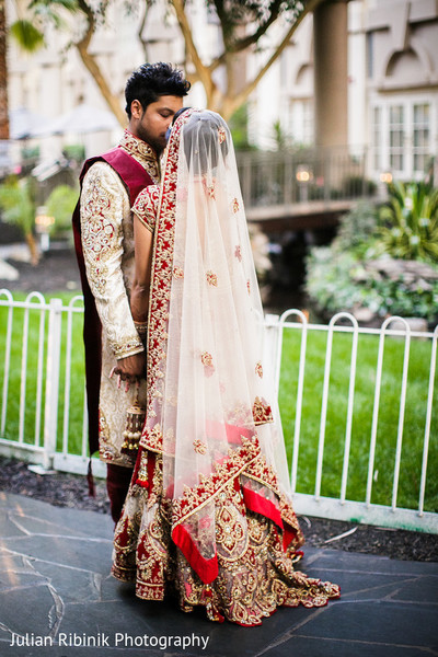 First Look in Greenwich, CT Indian Wedding by Julian Ribinik Photography