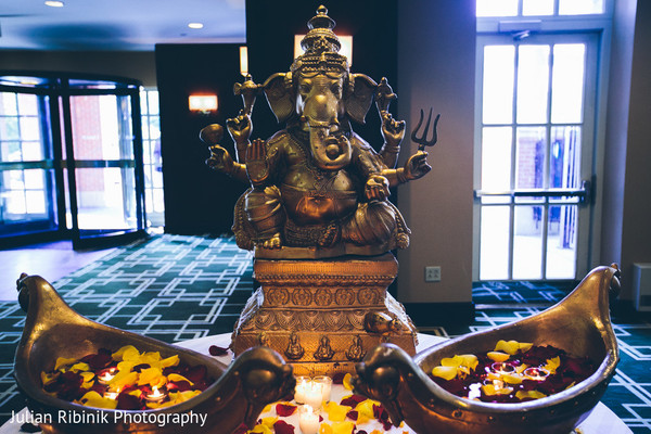 Floral & Decor in Greenwich, CT Indian Wedding by Julian Ribinik Photography