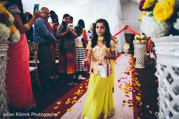 Ceremony in Greenwich, CT Indian Wedding by Julian Ribinik Photography