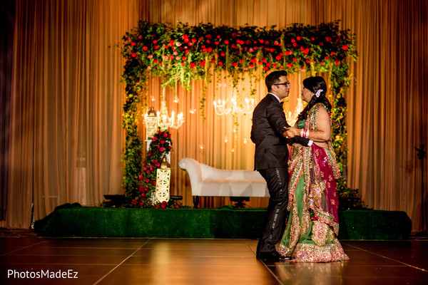 First Dance in Jersey City, NJ Indian Wedding by PhotosMadeEz