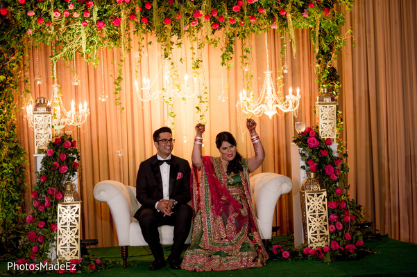Sweetheart Stage in Jersey City, NJ Indian Wedding by PhotosMadeEz