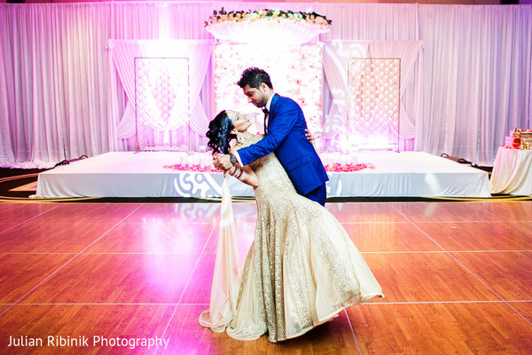 Reception Portrait in Greenwich, CT Indian Wedding by Julian Ribinik Photography