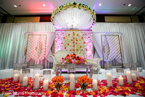 Sweetheart Stage in Greenwich, CT Indian Wedding by Julian Ribinik Photography