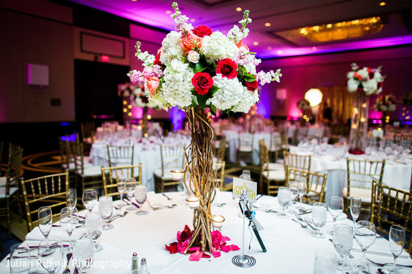 Centerpiece in Greenwich, CT Indian Wedding by Julian Ribinik Photography