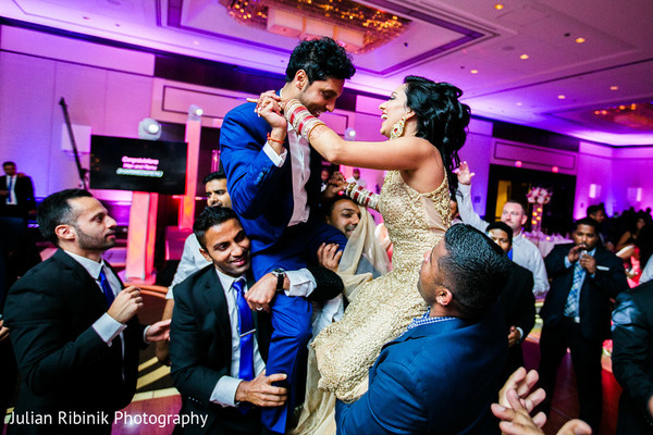 Reception in Greenwich, CT Indian Wedding by Julian Ribinik Photography