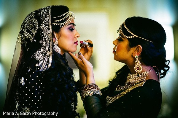 Getting Ready in Newark, DE South Asian Wedding by Maria A. Garth Photography