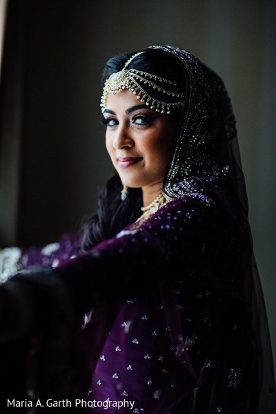 Bridal Portrait in Newark, DE South Asian Wedding by Maria A. Garth Photography