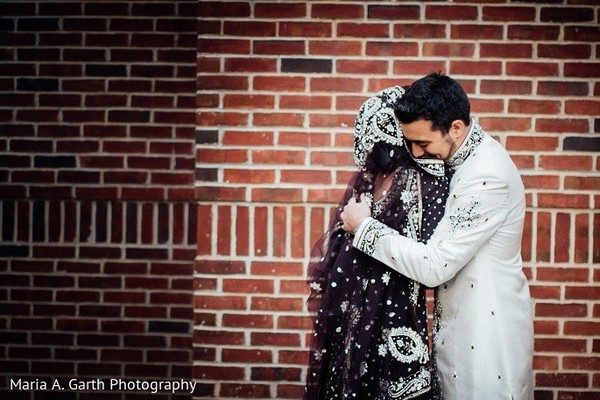 First Look in Newark, DE South Asian Wedding by Maria A. Garth Photography