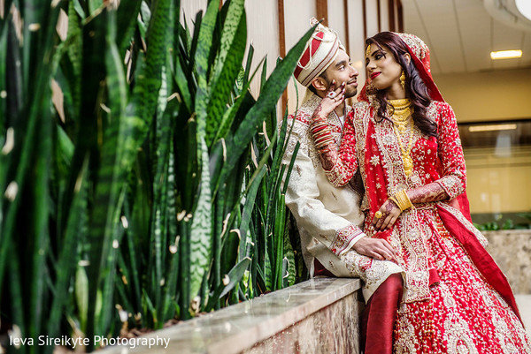 First Look in Teaneck, NJ South Asian Wedding by Ieva Sireikyte Photography