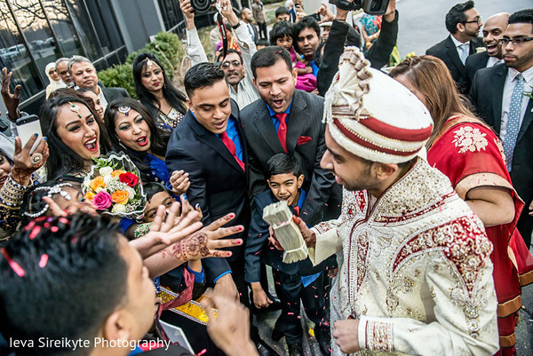Baraat in Teaneck, NJ South Asian Wedding by Ieva Sireikyte Photography