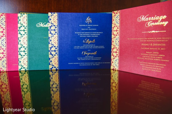 Stationery in Jersey City, NJ Indian Wedding by Lightyear Studio