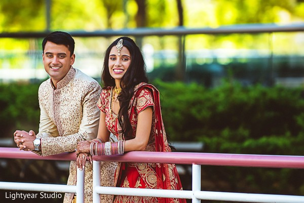 First Look in Jersey City, NJ Indian Wedding by Lightyear Studio