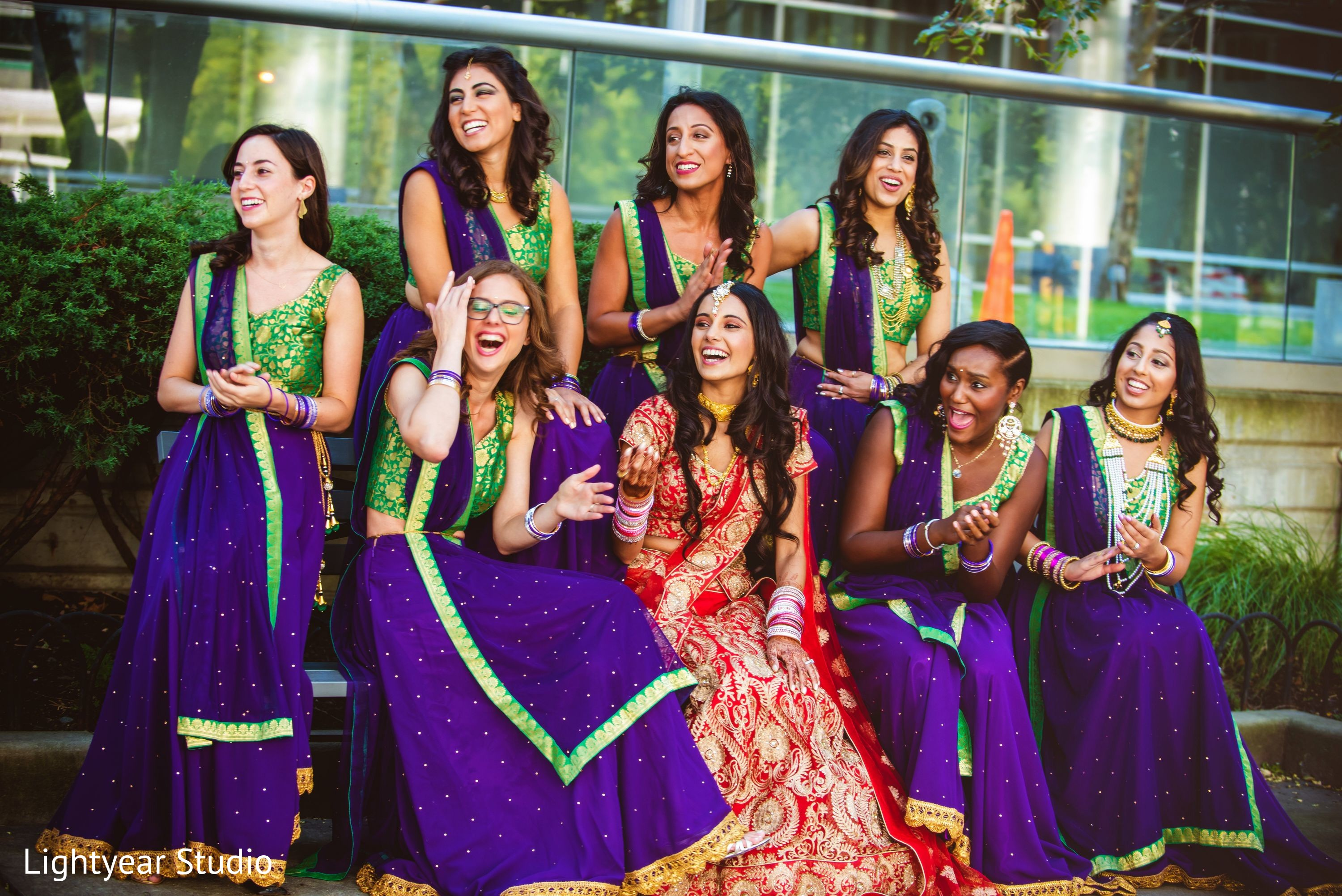 Bridal party in jersey city nj indian wedding by for Indian jewelry in schaumburg il