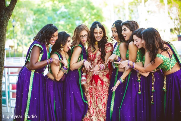 Bridal Party in Jersey City, NJ Indian Wedding by Lightyear Studio