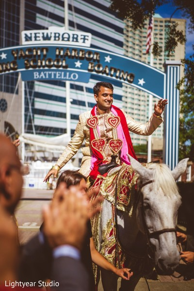 Baraat in Jersey City, NJ Indian Wedding by Lightyear Studio
