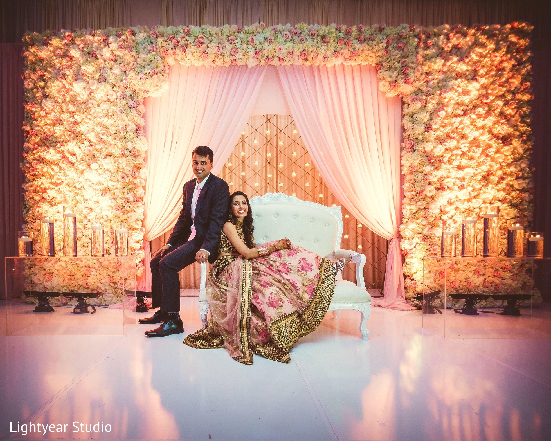 Reception Portrait in Jersey City NJ Indian Wedding by Lightyear