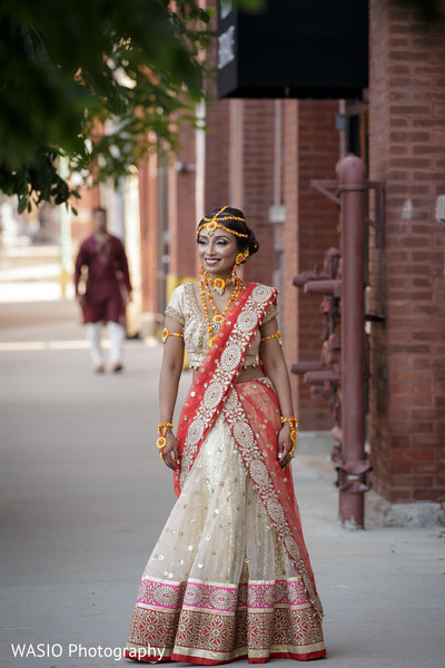 First Look in Joliet, IL Indian Wedding by WASIO Photography