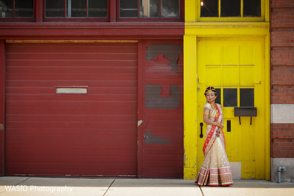 Bridal Portrait in Joliet, IL Indian Wedding by WASIO Photography