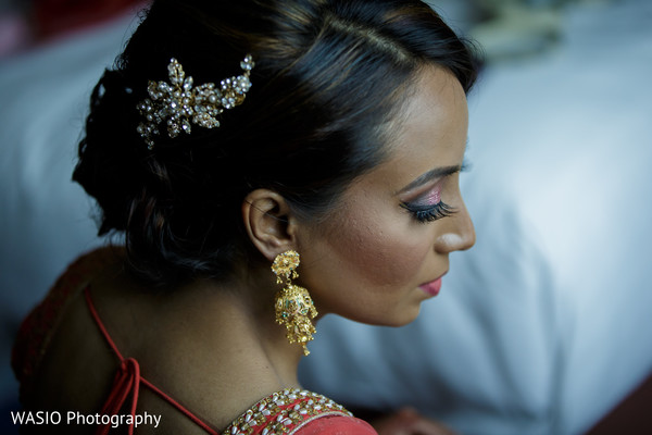 Hair in Joliet, IL Indian Wedding by WASIO Photography