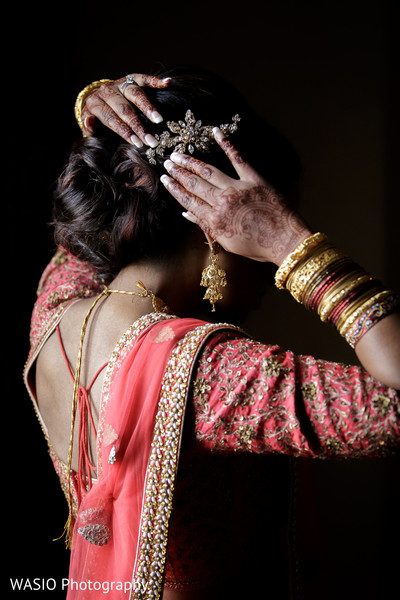 indian bride getting ready,indian bride hairstyles,south indian bride hairstyles,indian weddings,henna for indian bride