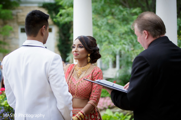 Ceremony in Joliet, IL Indian Wedding by WASIO Photography