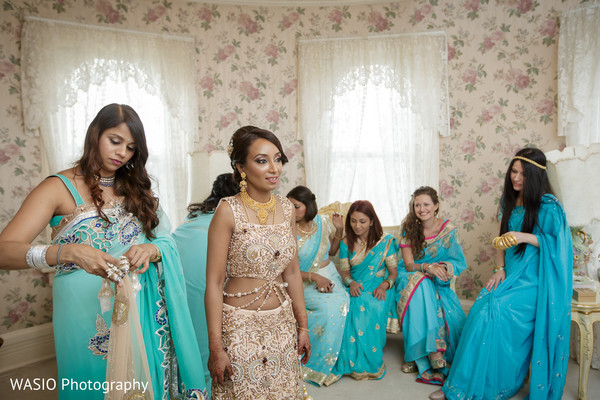 Getting Ready in Joliet, IL Indian Wedding by WASIO Photography