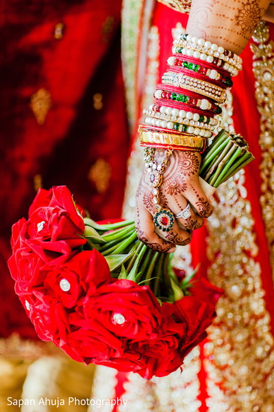 Bridal Bouquet in Chicago, IL Indian Wedding by Sapan Ahuja Photography