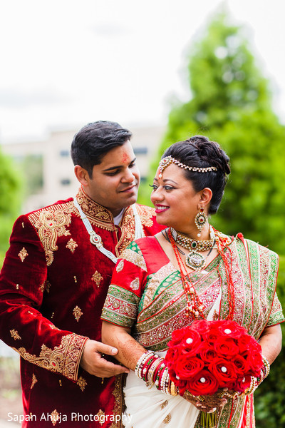 First Look in Chicago, IL Indian Wedding by Sapan Ahuja Photography