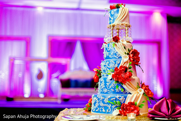 Cakes & Treats in Chicago, IL Indian Wedding by Sapan Ahuja Photography