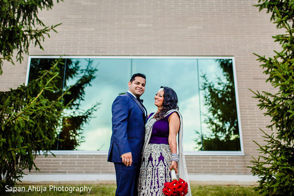 Reception Portrait in Chicago, IL Indian Wedding by Sapan Ahuja Photography