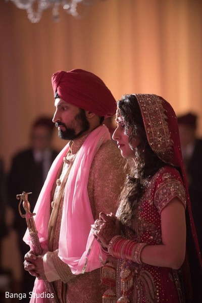 Ceremony in Winnipeg, Canada Sikh Wedding by Banga Studios