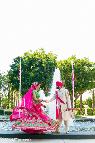 First Look in Anaheim, CA Sikh Wedding by RANDERYimagery