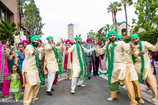 Baraat in Anaheim, CA Sikh Wedding by RANDERYimagery