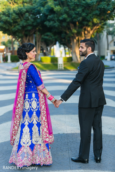 Reception Portrait in Anaheim, CA Sikh Wedding by RANDERYimagery
