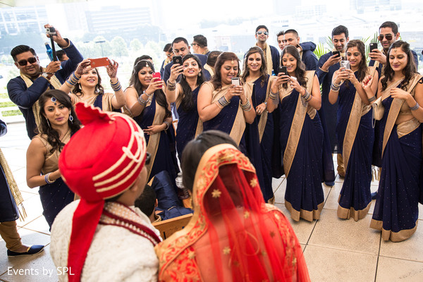 Bridal Party in Atlanta, GA  Indian Wedding by Events by SPL