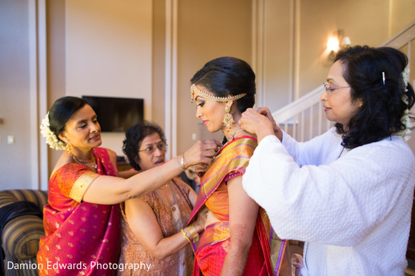 Getting Ready in Basking Ridge, NJ Indian Wedding by Damion Edwards Photography