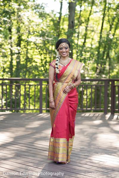 indian bridal sari,indian sari,indian weddings,south indian bride hairstyles,indian bride,indian bridal fashions,indian bride photography,indian wedding photo,portraits of indian wedding