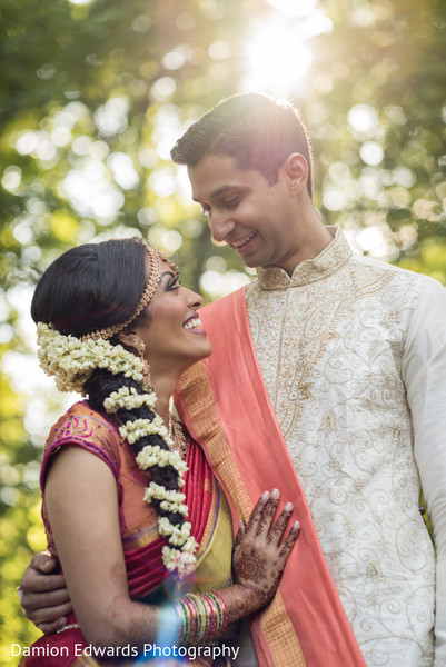 First Look in Basking Ridge, NJ Indian Wedding by Damion Edwards Photography