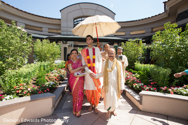 Baraat in Basking Ridge, NJ Indian Wedding by Damion Edwards Photography
