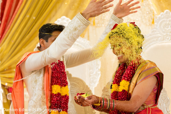 Ceremony in Basking Ridge, NJ Indian Wedding by Damion Edwards Photography