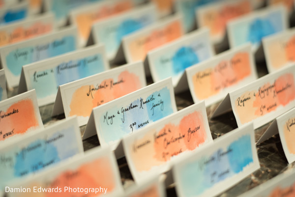 Place Cards in Basking Ridge, NJ Indian Wedding by Damion Edwards Photography