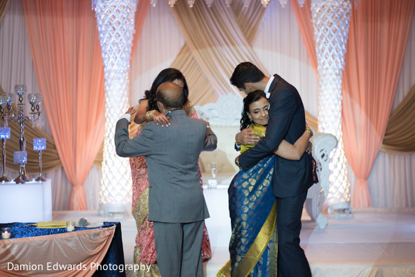 Reception in Basking Ridge, NJ Indian Wedding by Damion Edwards Photography