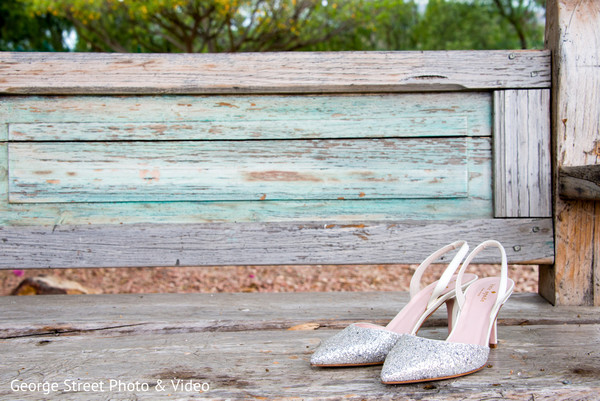 Shoes in Malibu, CA Indian Fusion Wedding by George Street Photo & Video