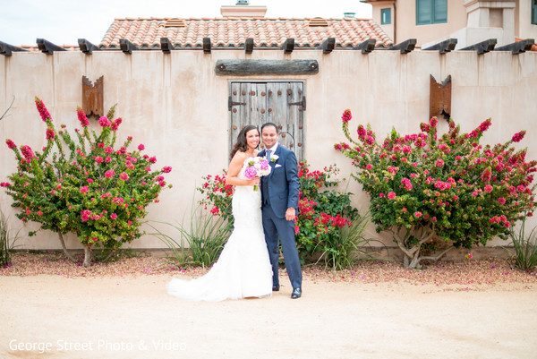 First Look in Malibu, CA Indian Fusion Wedding by George Street Photo & Video