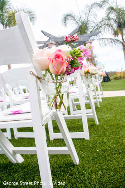 Floral & Decor in Malibu, CA Indian Fusion Wedding by George Street Photo & Video