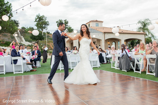 First Dance in Malibu, CA Indian Fusion Wedding by George Street Photo & Video