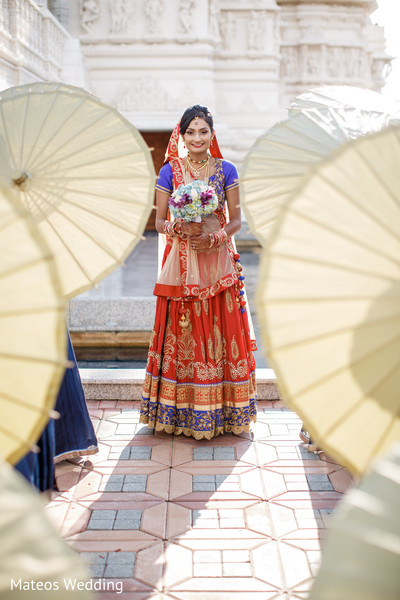 Bridal Portrait in Chicago, IL Indian Wedding by Mateos Wedding