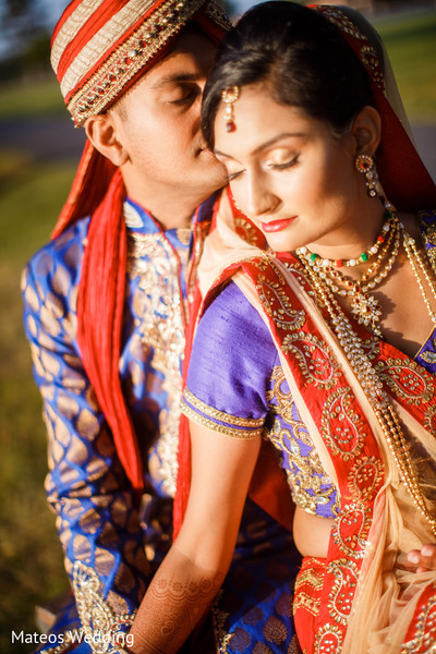First Look in Chicago, IL Indian Wedding by Mateos Wedding