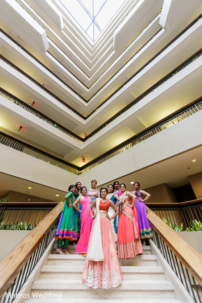 Reception Portrait in Chicago, IL Indian Wedding by Mateos Wedding